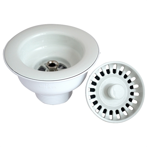 mcalpine basket strainer waste   white   notjusttaps co uk  rh   notjusttaps co uk